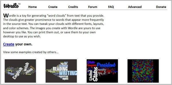 Creating infographics with Wordle