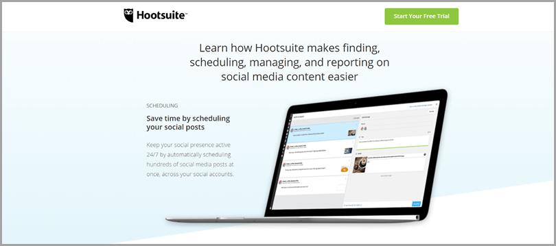 Outil populaire de médias sociaux et outils Twitter de Hootsuite