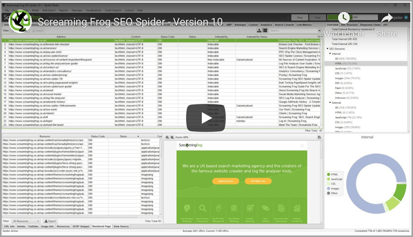 Screaming frog seo spider seo tools analysis
