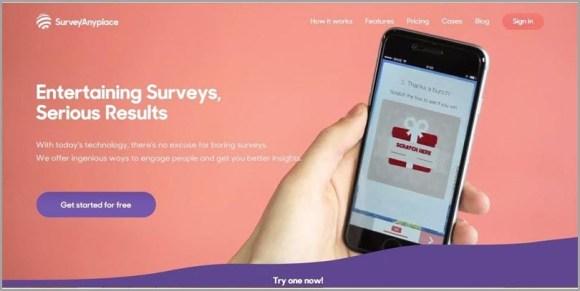 أنشئ تجربة مستخدم رائعة باستخدام برنامج Survey Anyplace عبر الإنترنت