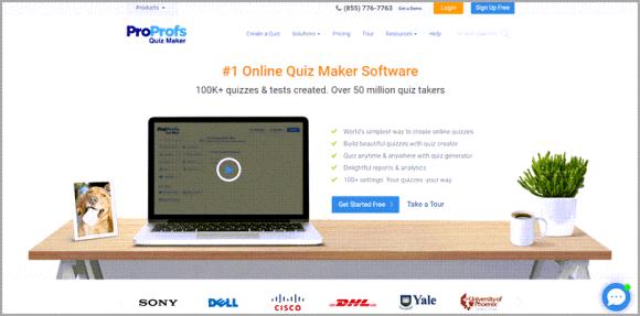 ProProfs Quiz Maker برنامج اختبار العملاء المحتملين عبر الإنترنت