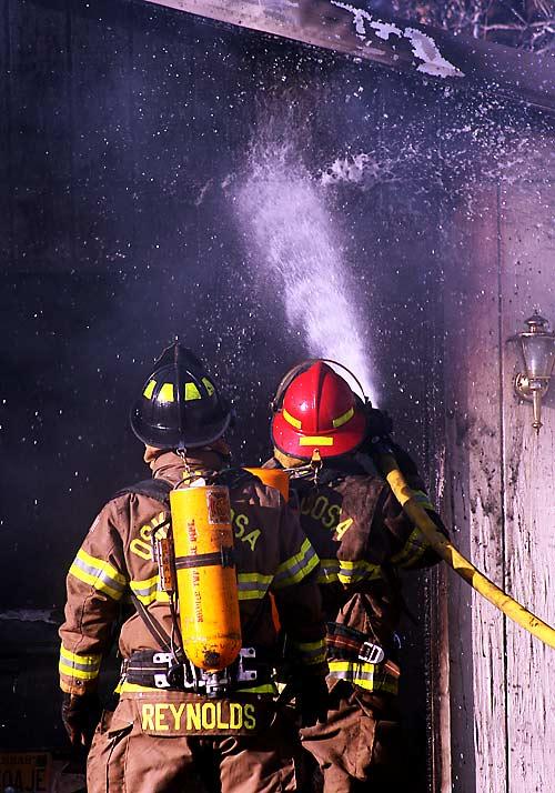 Firemen from the Oskaloosa township