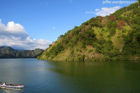The Ambuklao Reservoir.