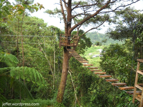 One of the many activities at the Winaca Eco-Park in Tublay.