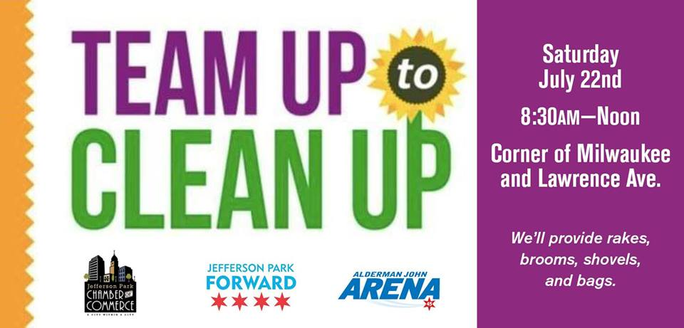 Clean up day in Jefferson Park