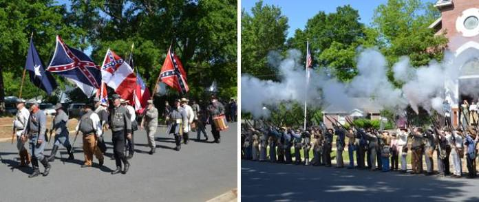 "Watch the ceremony of the departure of ""The Jefferson Guards"" as they leave to fight for the Confederacy in 1861."