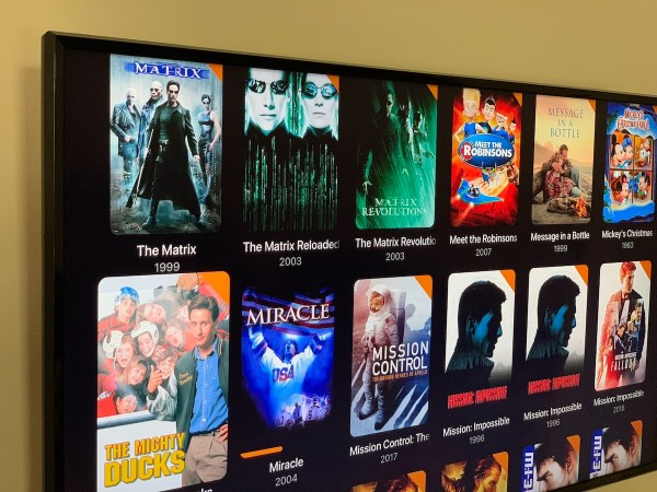 Apple TV running Firecore Infuse 7