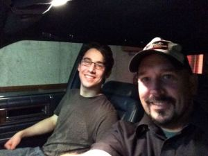 Kyle and Me in the Caddy