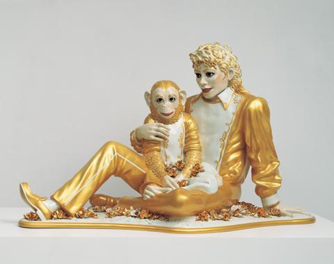 Jeff Koons (1988) <em>Michael Jackson and Bubbles</em>, porcelain - © Jeff Koons