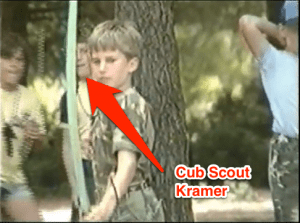 Me in the background of a US Military video on Rota's cub scouts.