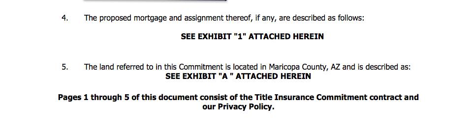 north scottsdale arizona title commitment