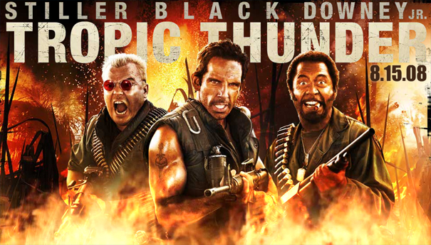 Movie poster for the movie Tropic Thunder