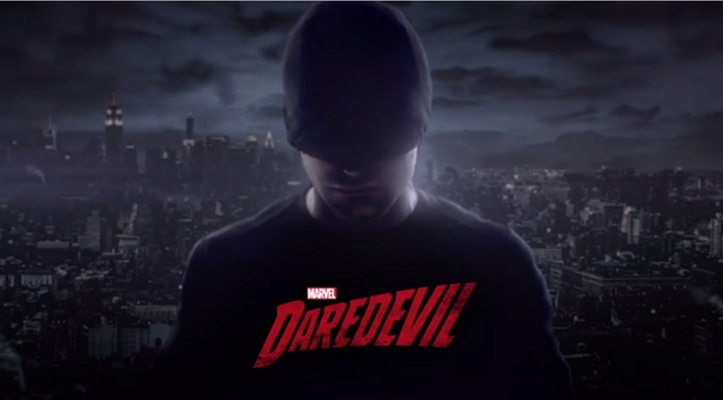 Wallpaper of Daredevil's original all-black costume