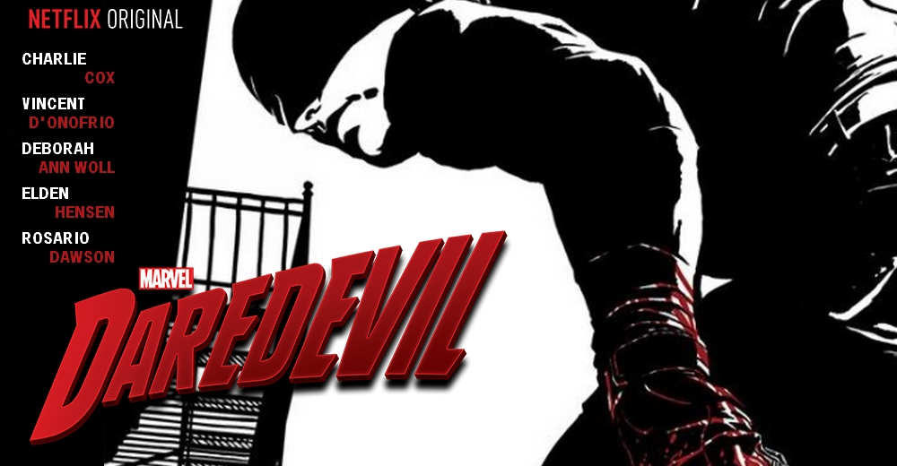 Noir comic-style poster for Netflix's Daredevil