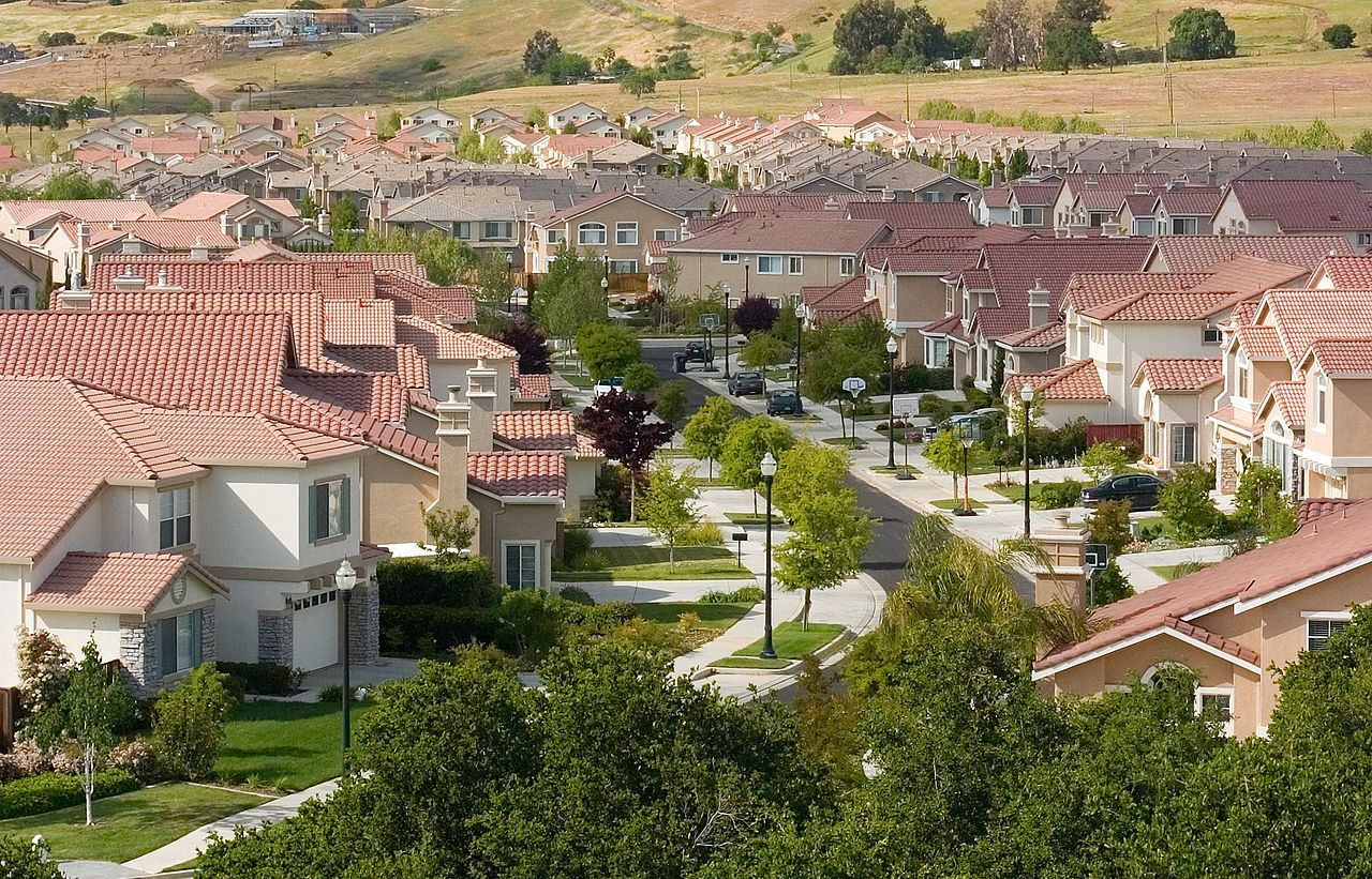 A high angle photo of a San Jose suburb