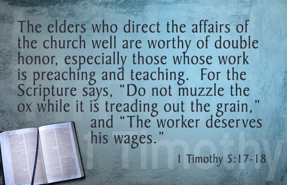 Image result for 1 timothy 5:17-18 plus image