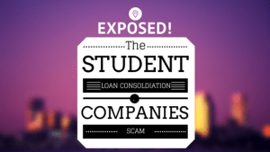 student loan consolidation scam image