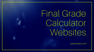 Final Grade Calculator Websites