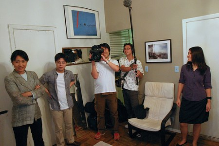 The Tokyo Broadcasting System filmcrew...