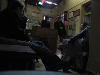 Talking to the hotel staff in Adana