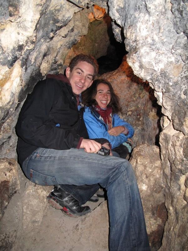 Stephanie and I inside the cave in Antakya