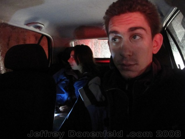 Driving at night back to Antakya