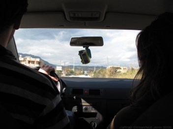 Driving west, then north out of Antakya