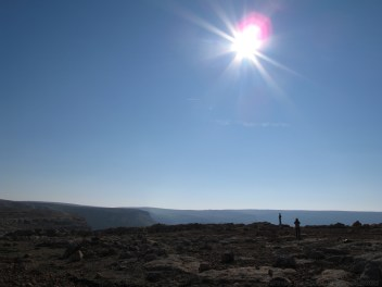 Surveying the dramatic scenery as we drive to Bierecheck, in the canyons carved by the Euphrates
