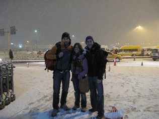 Blizzard conditions landing back in Istanbul