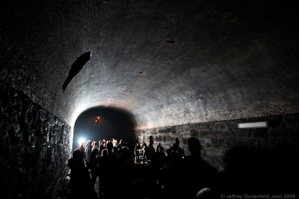 Inside the Atlantic Avenue Subway Tunnel