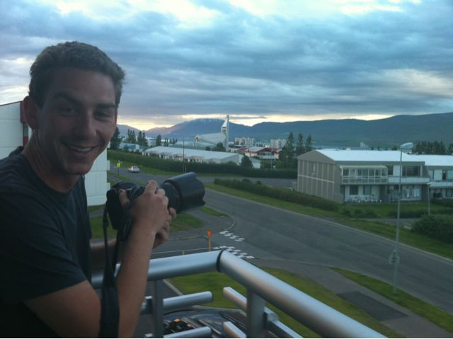 Having fun in Akureyri