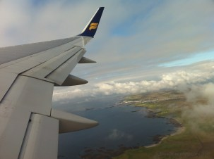 Departing Reykjavik