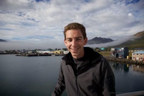 Jeffrey with Dalvik Harbour