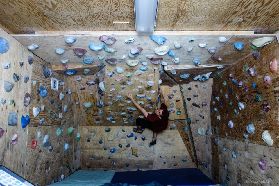 The Climbing wall at the Amundsen-Scott South Pole Station