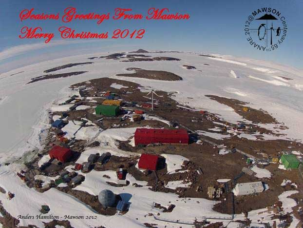 Mawson Station, Antarctica Holiday Greeting Card
