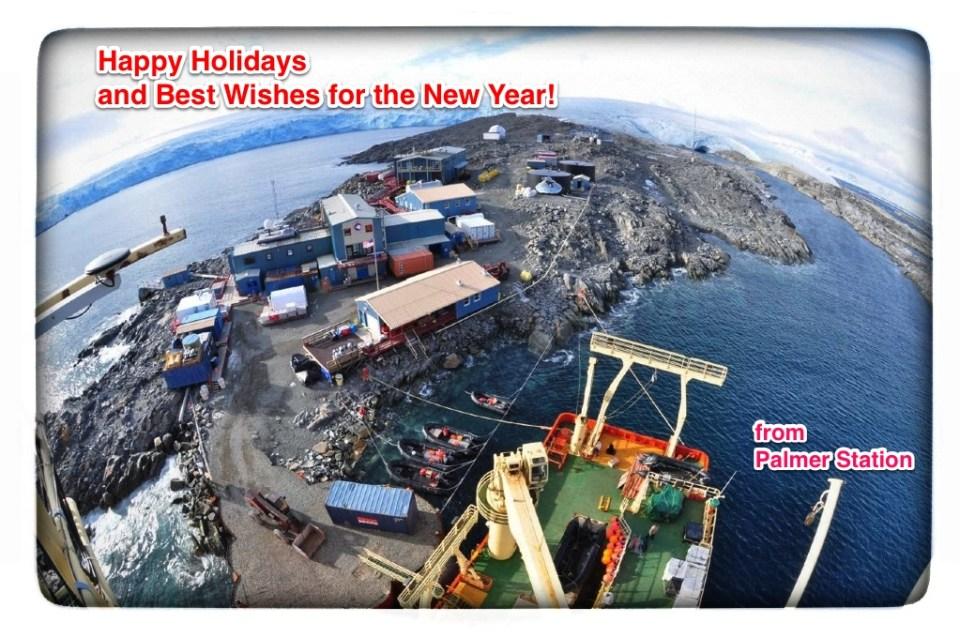 Palmer Station Antarctica Holiday Card
