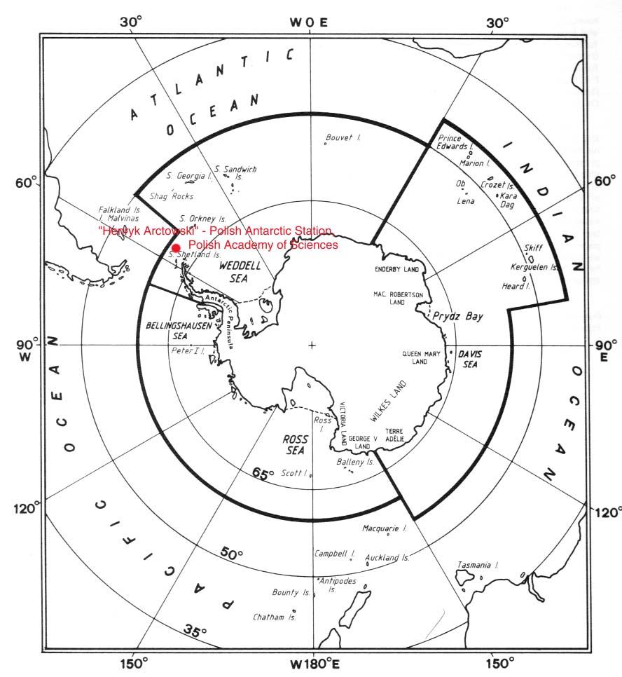 Polish Antarctic Station Map