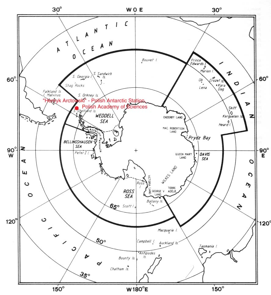 Polish Antarctic Station Map