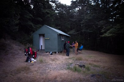 Our final night's hut, which we shared with two through-hikers and a biker.
