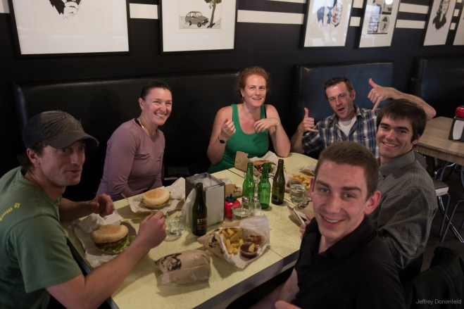Dinner at Burgers and Beers in Christchurch with friends
