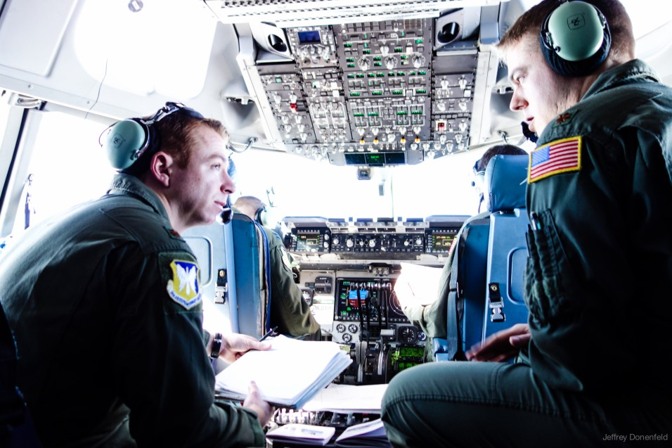 The cockpit of the C17.