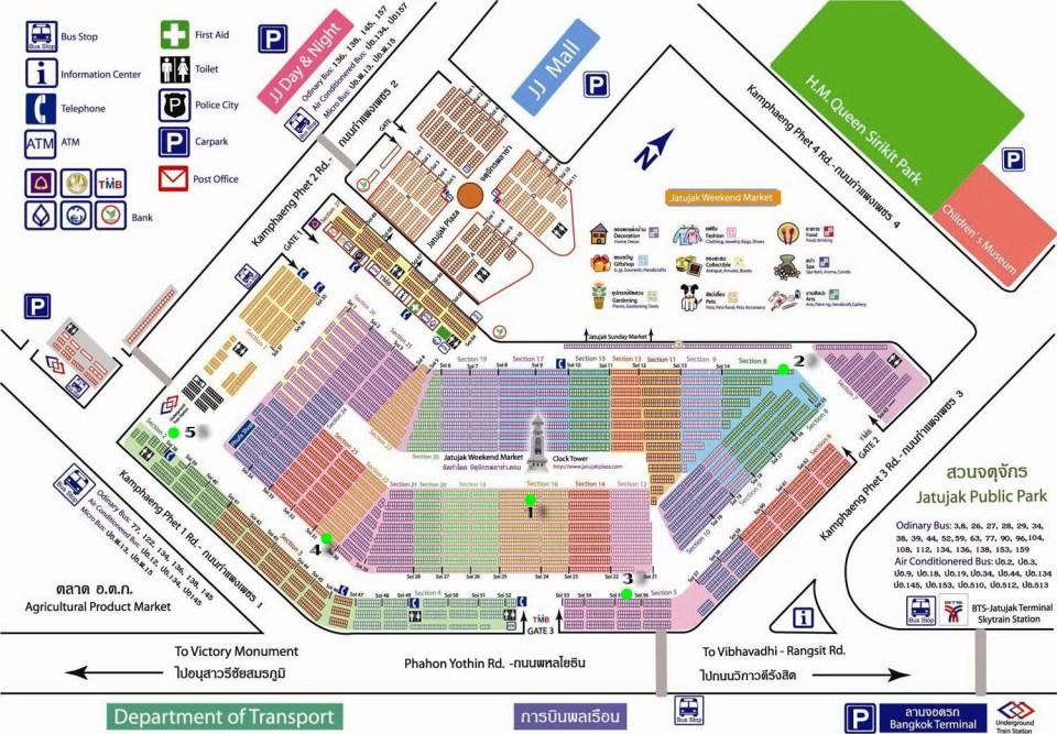 Chatuchak Weekend Market Map