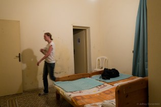 That night in Tyre, we found a Convent deep in the dark market, and got rooms for the night – it was a great place!