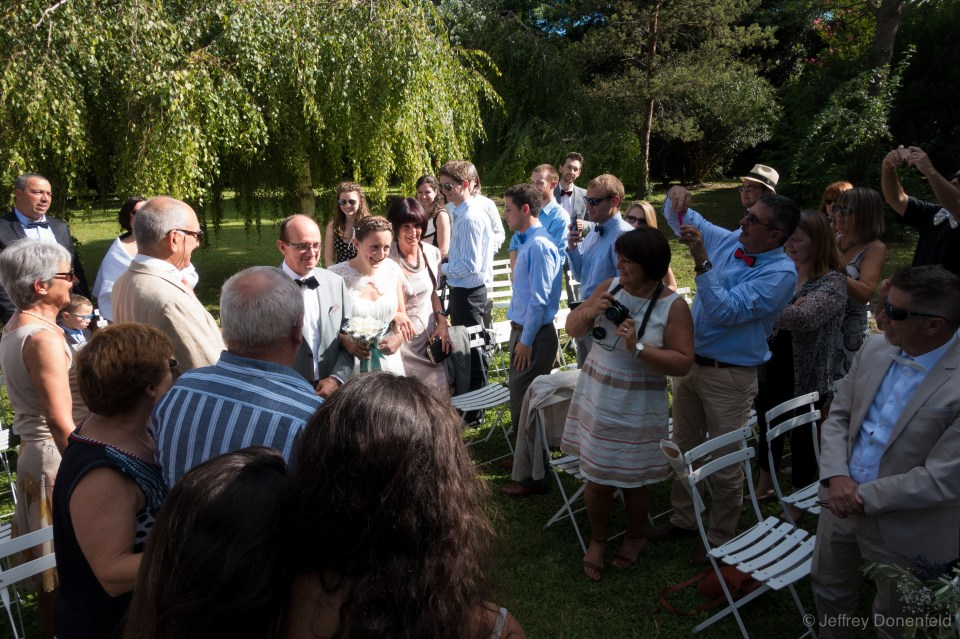 Beautiful wedding ceremony, on the grounds of a historic farmhouse.