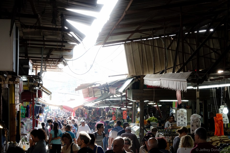 Crowds at the Mahane Yehuda Market, Jerusalem