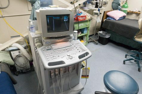 Ultrasound, and other high tech gear is all available at McMurdo.