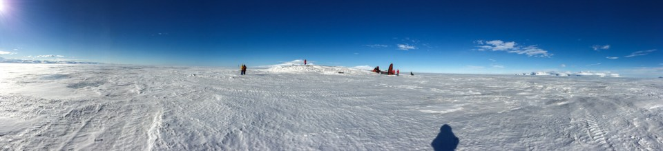 A panorama of the resting site