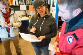 At the Berg Field Center, we go over our field camp gear list.