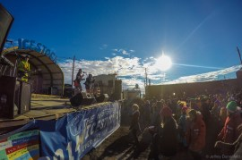 Main stage, with the Antarctic sun circling overhead
