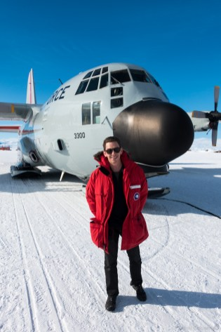 Preparing to leave Antarctica on an LC-130.